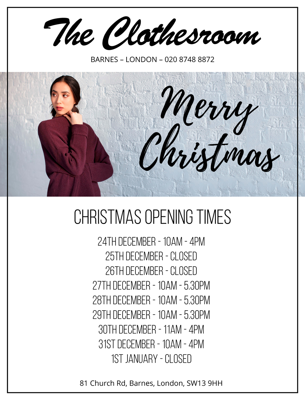 The-Clothes-Room-Christmas-Opening-Times